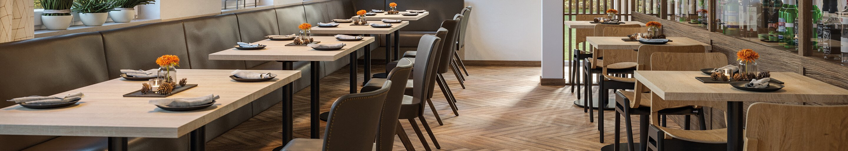 Indoor Dining tables for your restaurant or hotel