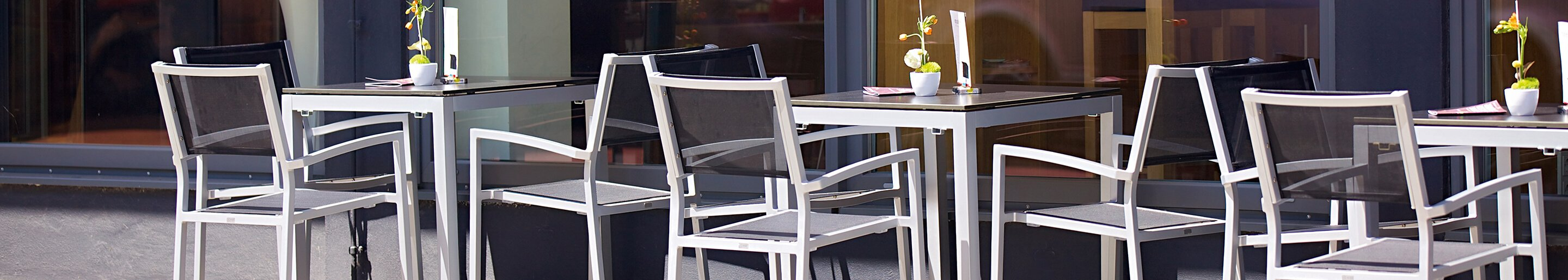 Outdoor Mesh chairs for your restaurant or hotel