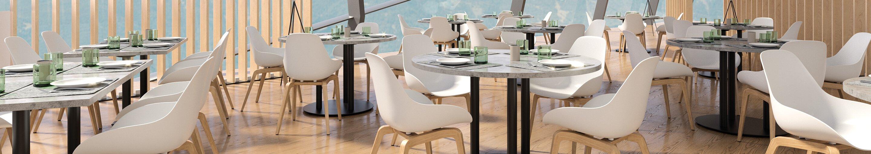 Chaises à coque pour votre restaurant ou hôtel