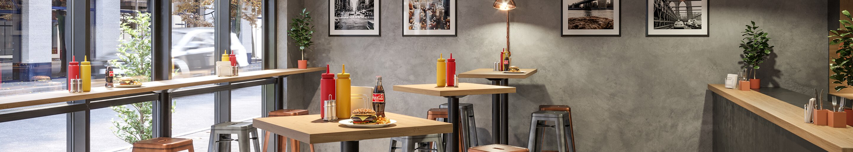 Indoor Bistro tables for your restaurant or hotel