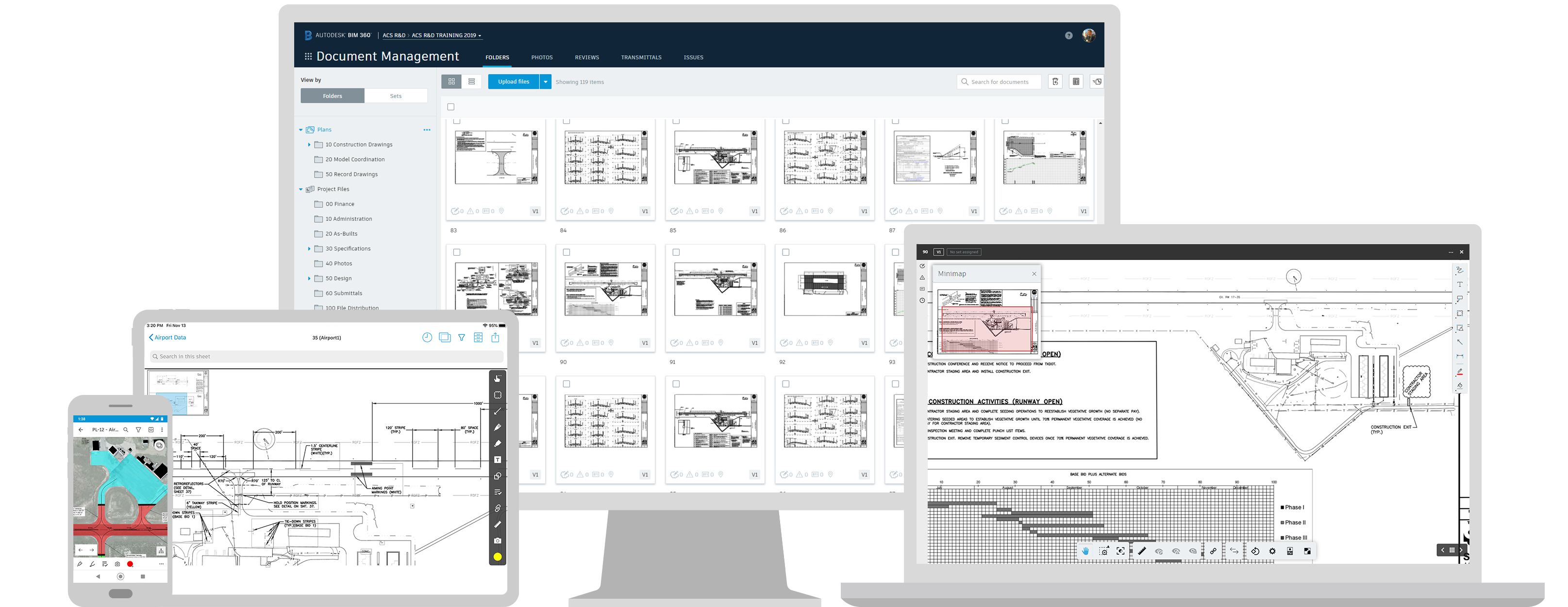 Autodesk construction software used across multiple devices