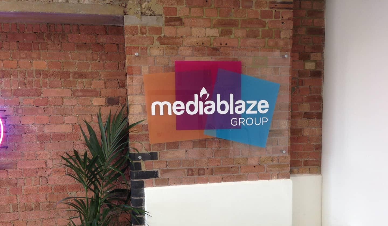 Mediablaze office - old logo