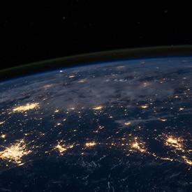 Birdseye view of Earth